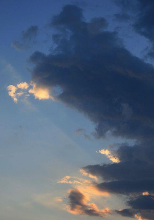 Cloud Catching Light