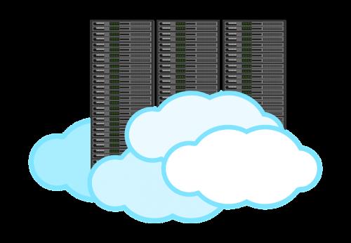 cloud computing black white