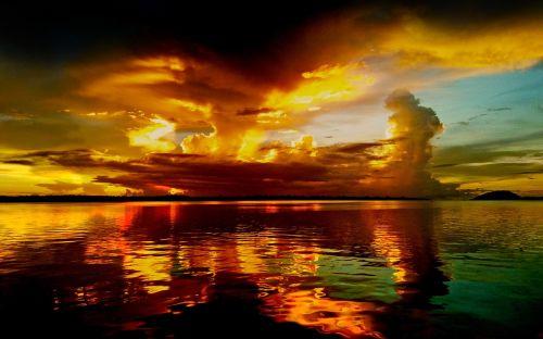 cloud dusk twilight sea dusk
