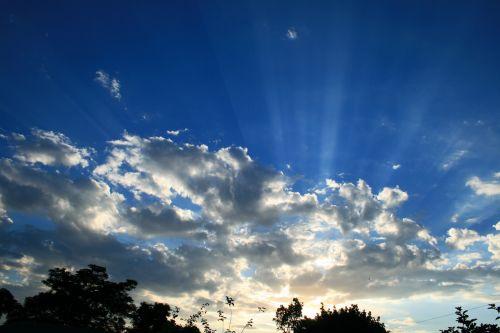 Cloud With Sun Beams