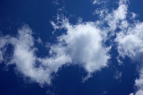 clouded sky  clouds  cumulus