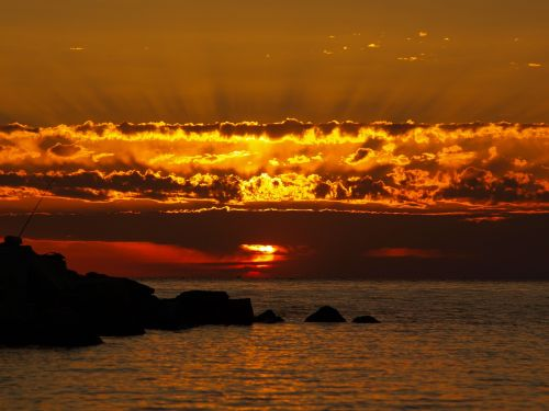clouds sun sunset