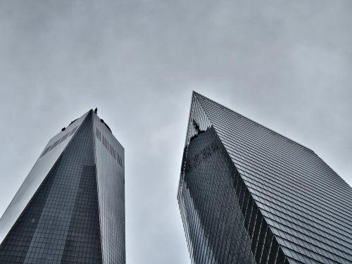 clouds new york city skyscraper