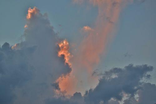 clouds sunset sky
