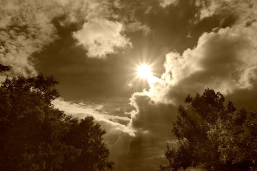 clouds cumulus sky