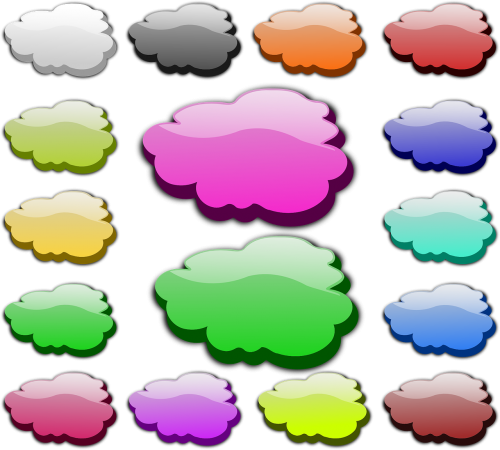 clouds speech bubble thinking