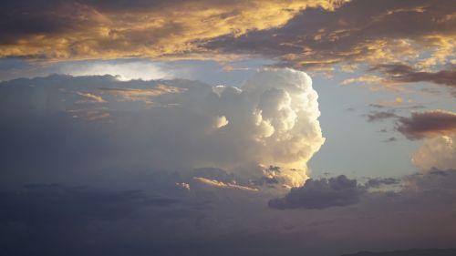 clouds cotton fluff