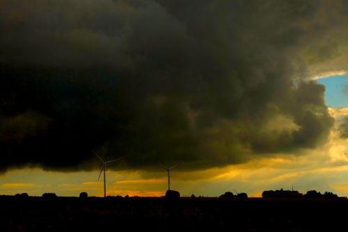 clouds storm sky