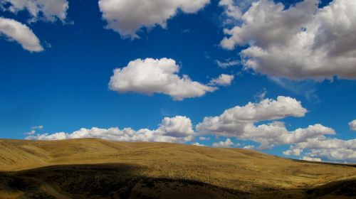 clouds high desert landscape