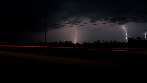 clouds lightning lightning strike