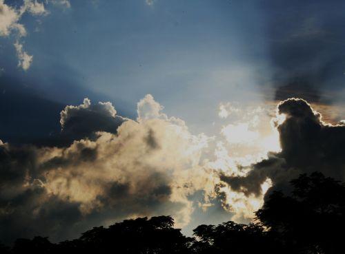 clouds white irregular