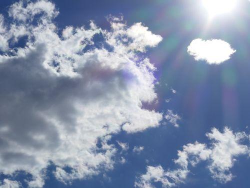 clouds sky sun