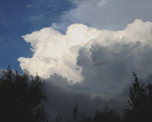 clouds cumulus dense
