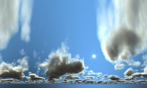 clouds 360 ° panorama sky