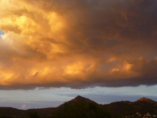clouds mood landscape