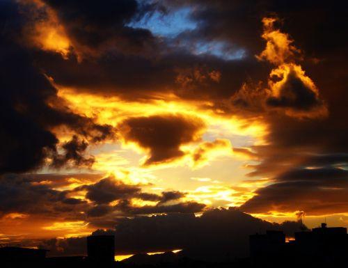 clouds sky sunset