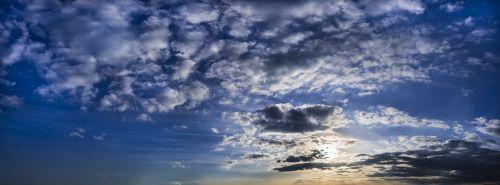 clouds sky fleecy