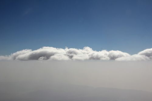 clouds mountains sky