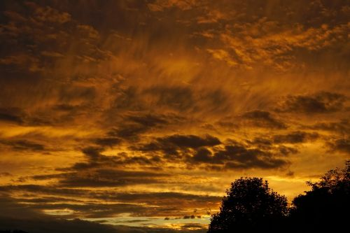 clouds abendstimmung sunset