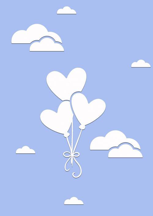 clouds sky air balloons