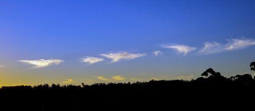 clouds white blue
