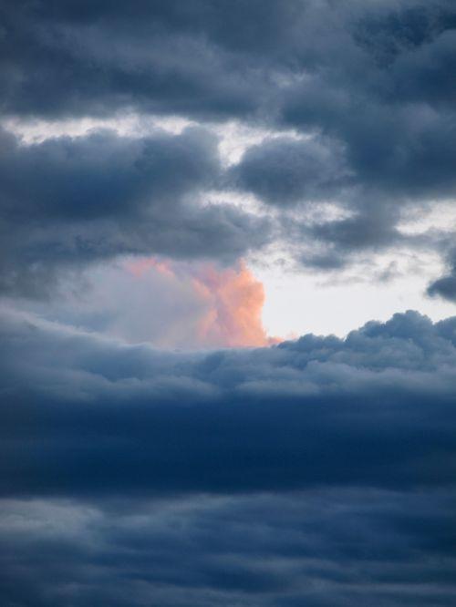 clouds sky spotlight