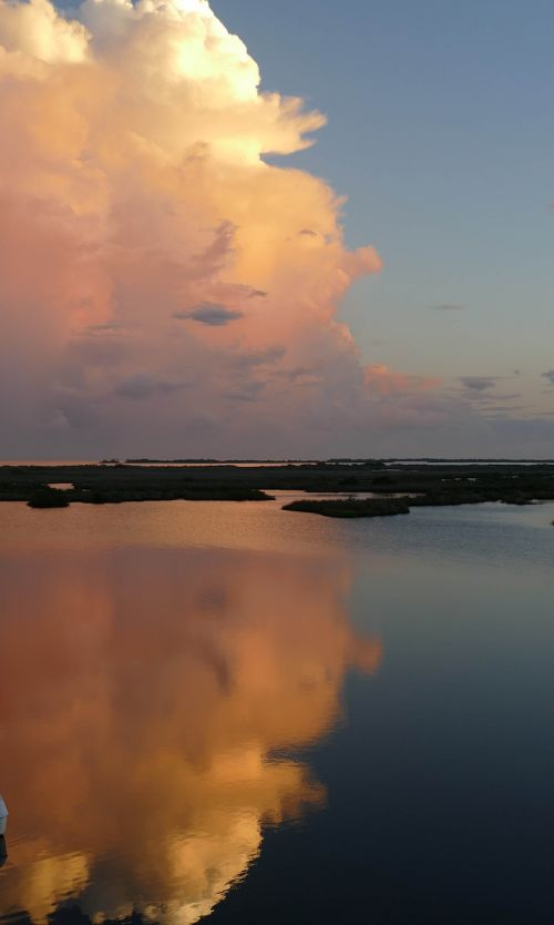 clouds gulf of mexico marsh
