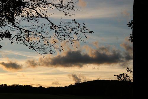 clouds twilight nature