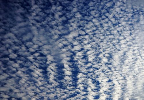 clouds stripes high sky