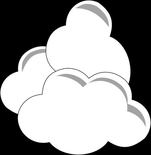 debesys,balta,trys,klimatas,cumulus,oras,atmosfera,purus,dangus,Debesuota,aplinka,nemokama vektorinė grafika