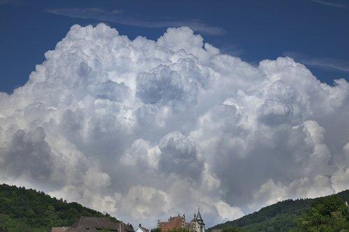 clouds  aircraft  storm clouds