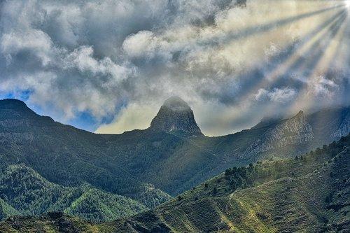 clouds  sky  mountain