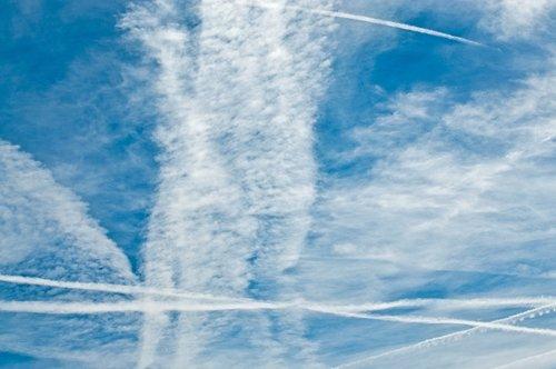 clouds  sky  contrail