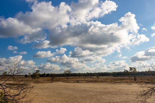 clouds  vista  drunense duinen