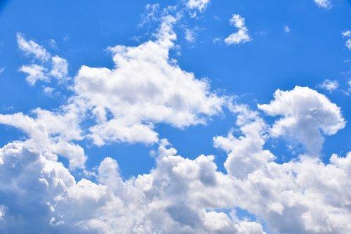 clouds  blue sky  cloudy sky