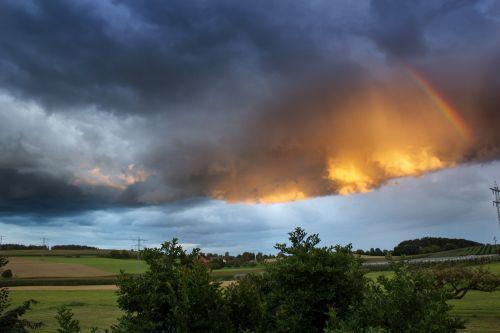 clouds rainbow sky