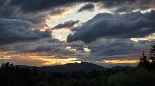 clouds nature dark