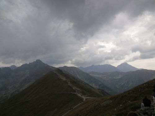 clouds mountains tatry
