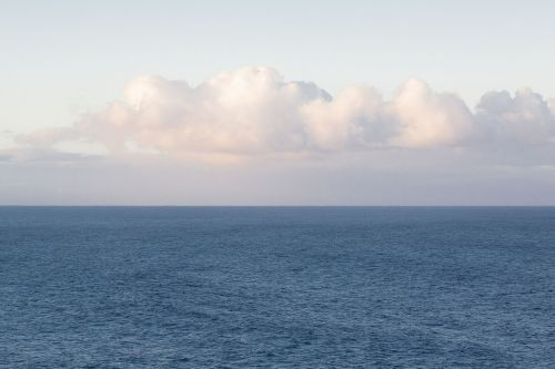 clouds horizon sea
