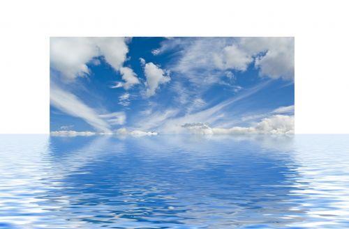 clouds wave sea