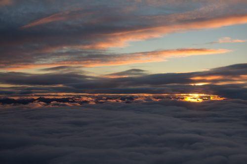clouds arctic sunset