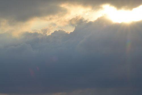 clouds weather sun