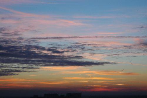 clouds sky the sun