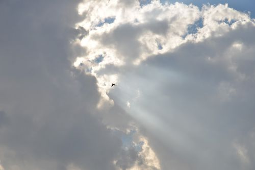 clouds sun ray of sunshine