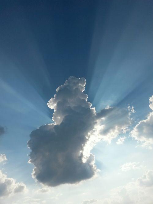 clouds sky blue