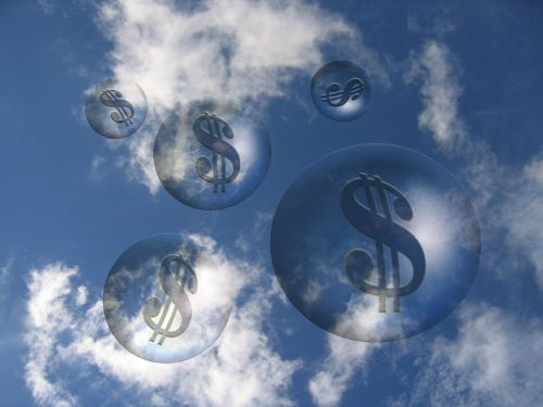 clouds dollar symbol