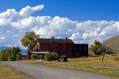 clouds and bannack  montana  meade