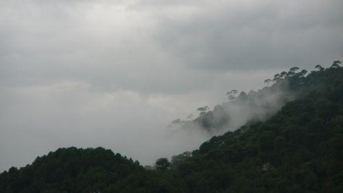 debesis, debesys, kalnas, kalnas, katmandu, Nepalas, laukas, miestas, perėjimas, lietus, musonas, debesys Katmandu kalnuose