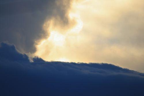 Clouds Like Ocean Waves Breaking