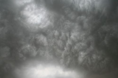 Clouds Massing Before A Storm